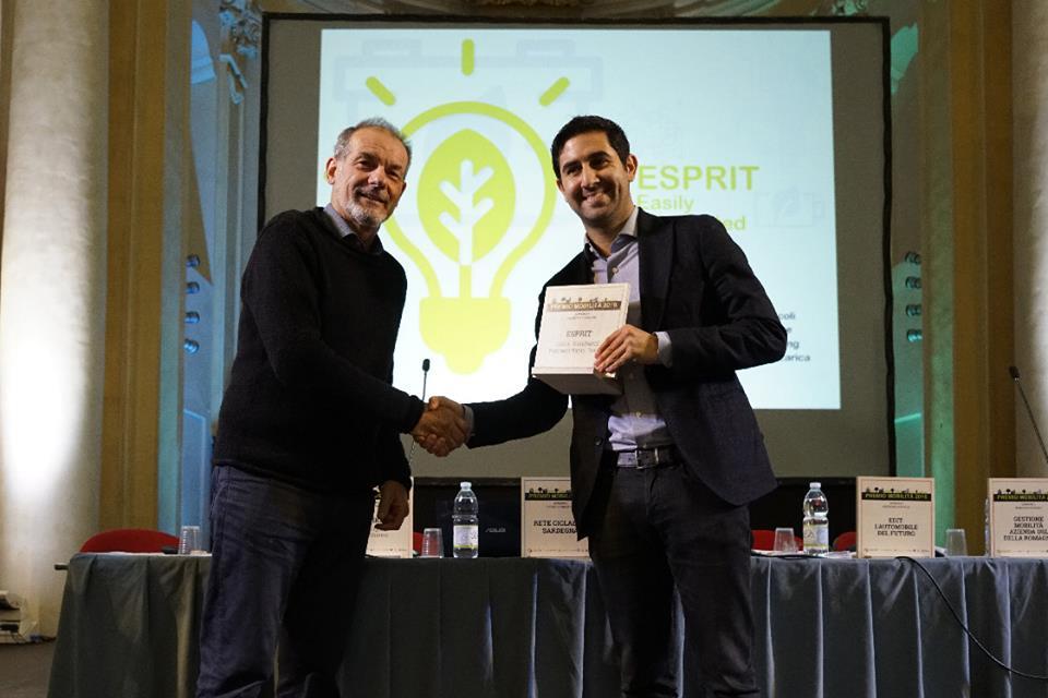 """Marco Righi, CEO di Kaitek Flash Battery che ha ritirato il """"Premio Mobilità 2018"""""""