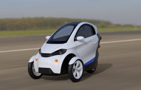veicolo elettrico a 3 ruote con batterie al litio