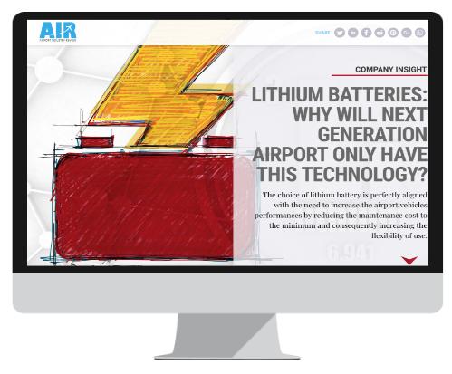 batteries au lithium pour véhicules aéroportuaires