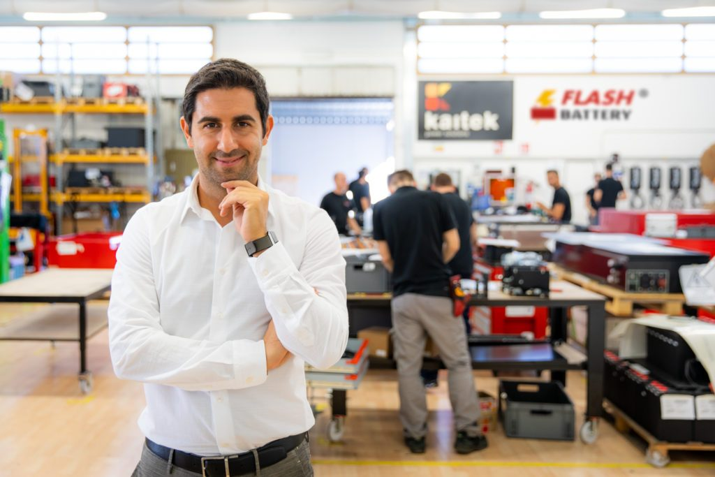 marco righi ceo flash battery
