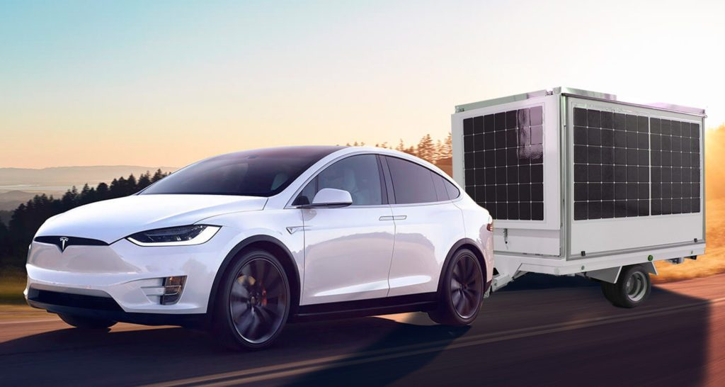 tesla with lithium battery