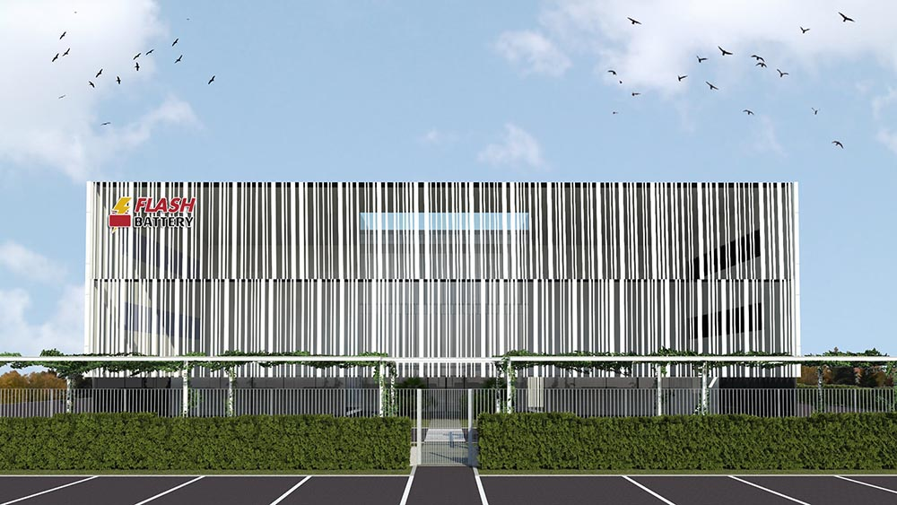 flash battery new building rendering