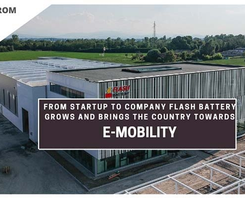 TCE from start up to company flash battery brings italy towards emobility