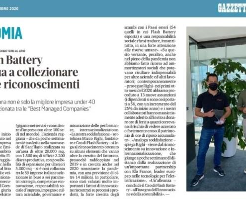 Gazzetta Reggio Flash Battery Best Managed Company 2020 Deloitte