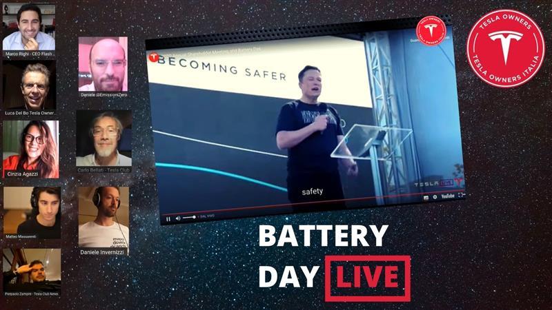 Tesla Battery Day day Italia