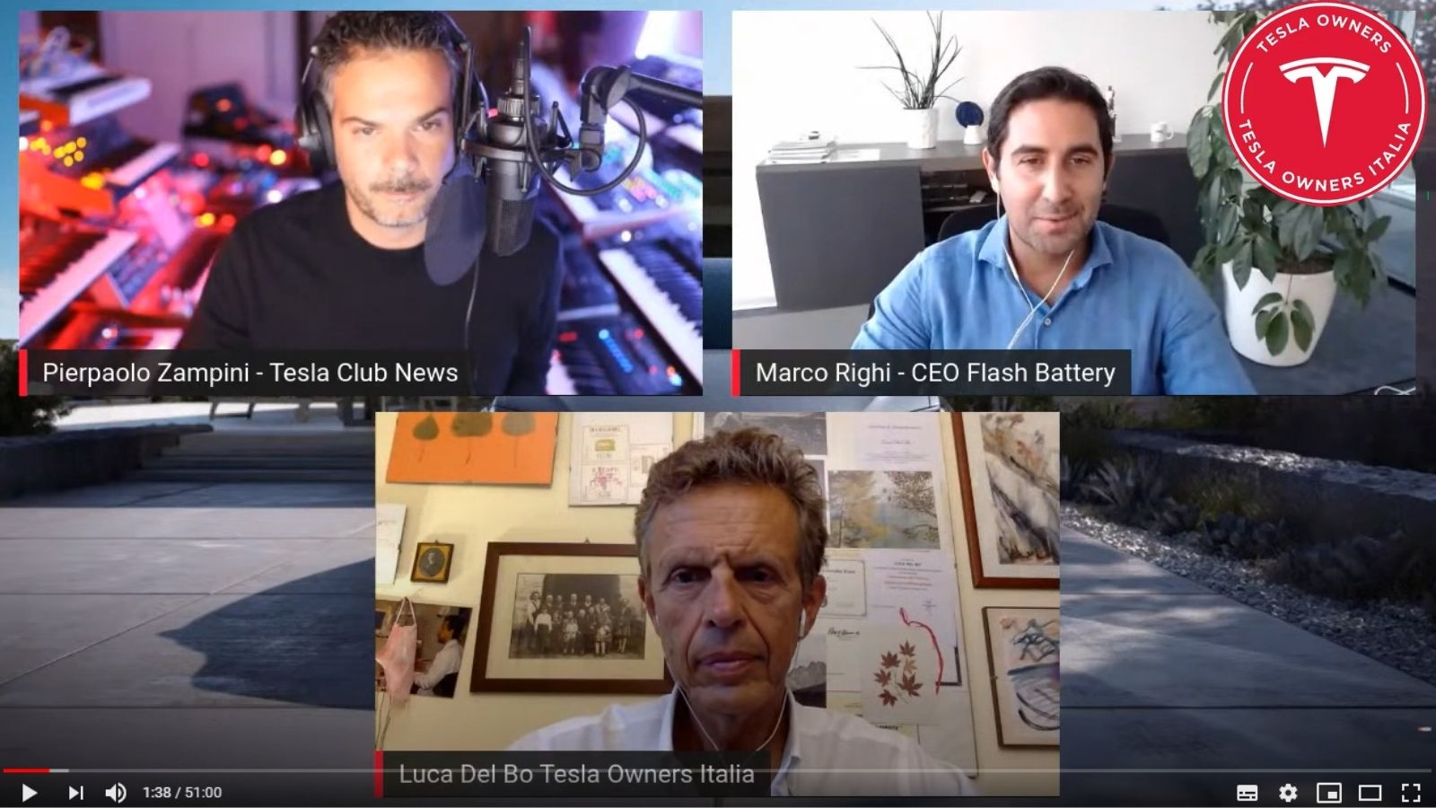 Pillole tecnologia Flash Battery Marco Righi Live Tesla Owners Italia