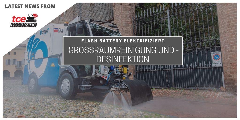 tce Flash Battery elektrifiziert Dulevo Straßenschwemmmaschine