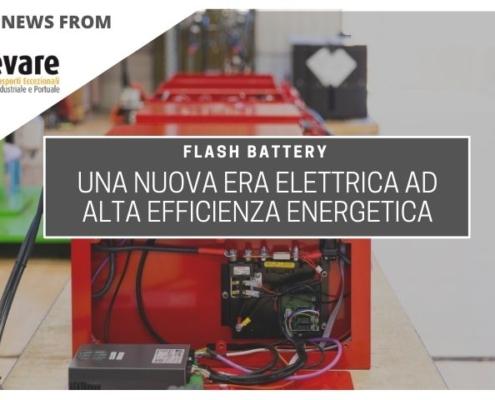 sollevare flash battery nuova era elettrica alta efficienza energetica