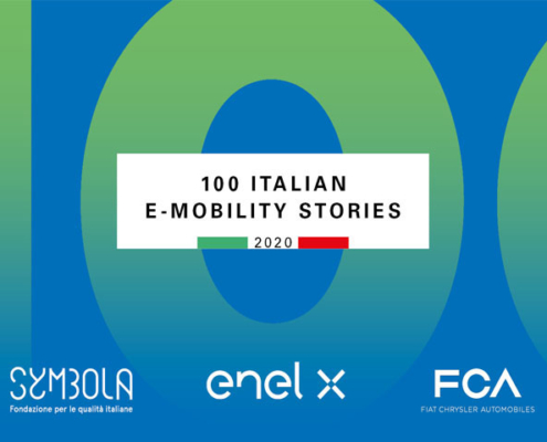 Flash Battery 100 Italian emobility stories symbola