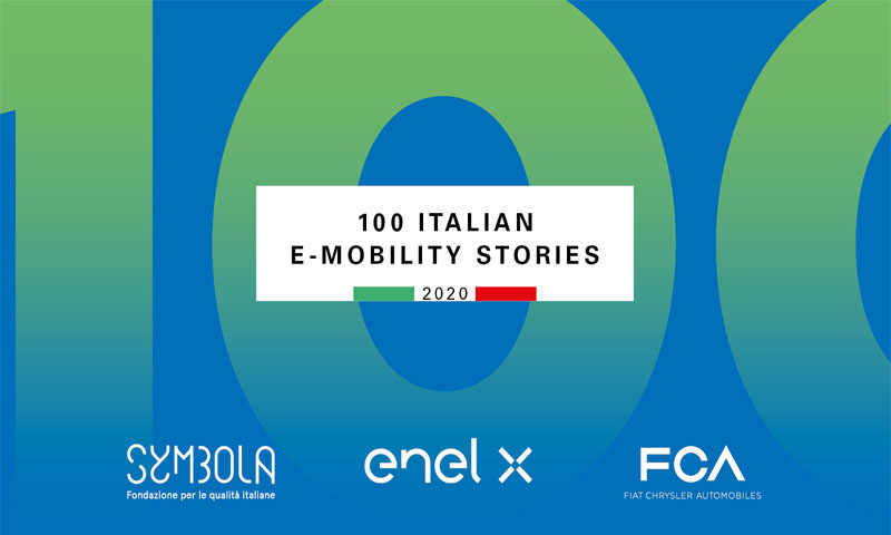 Flash Battery 100 Italian emobility stories symbola