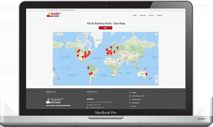 Flash Battery data center maps