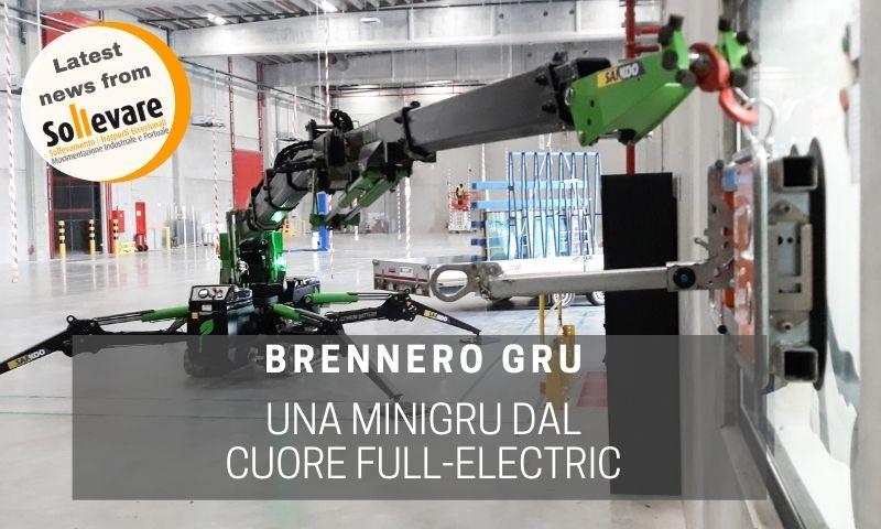 Sollevare: la minigru elettrica di Brennero Gru