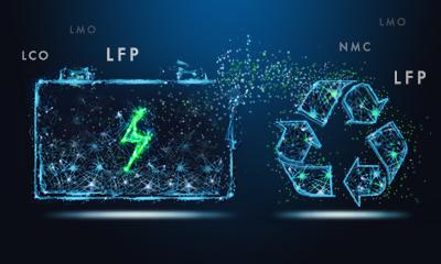 Recycling von Lithium Batterien