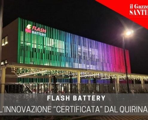gazzettino santilarese flash battery innovazione certificata da quirinale