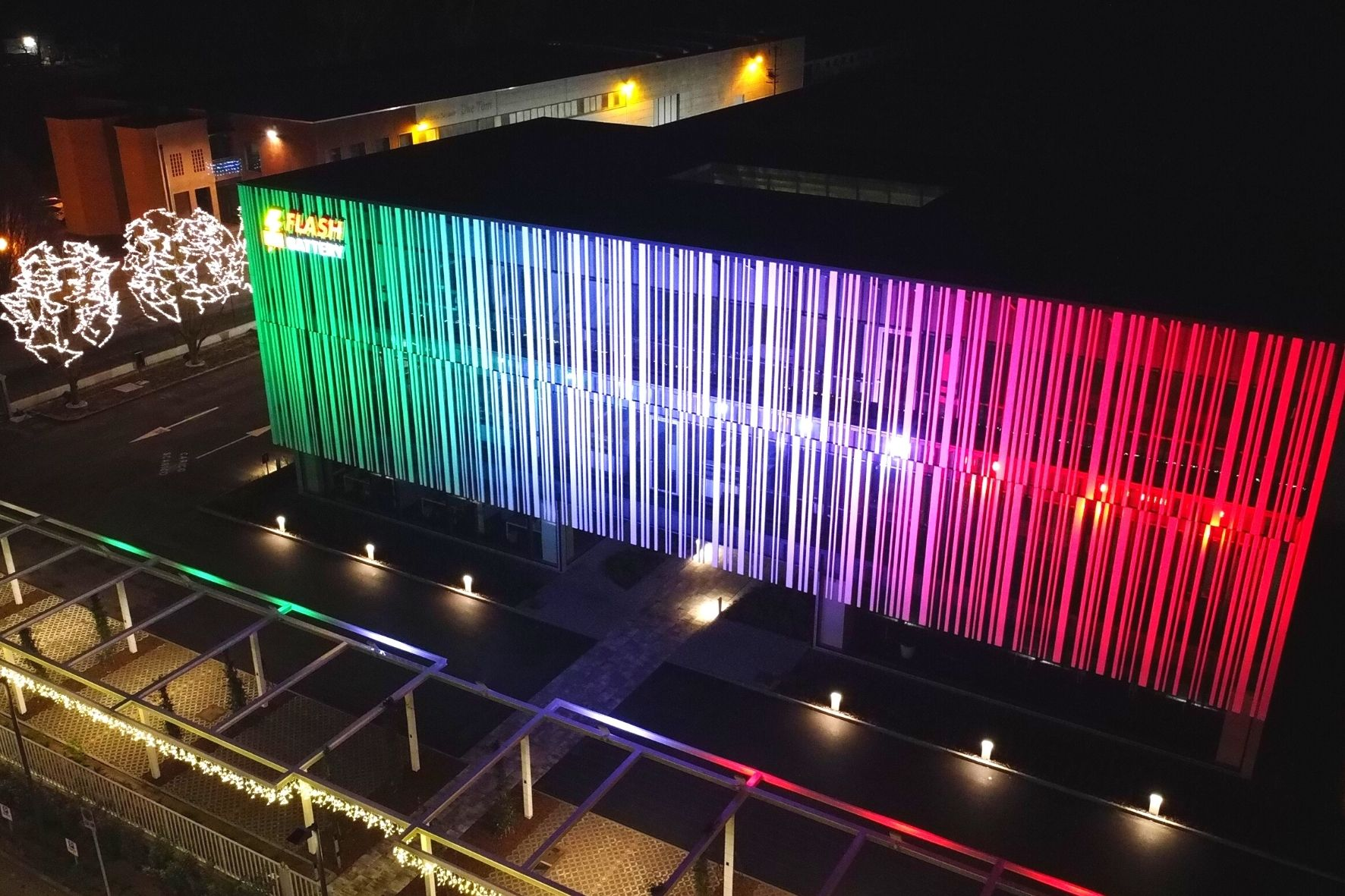 Flash Battery HQ illuminated for National Flag Day