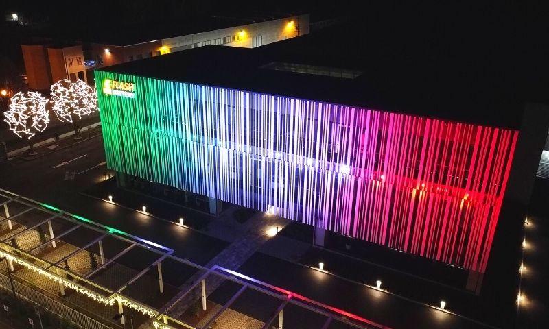 Siège Flash Battery illuminé pour la fete nationale du tricolore