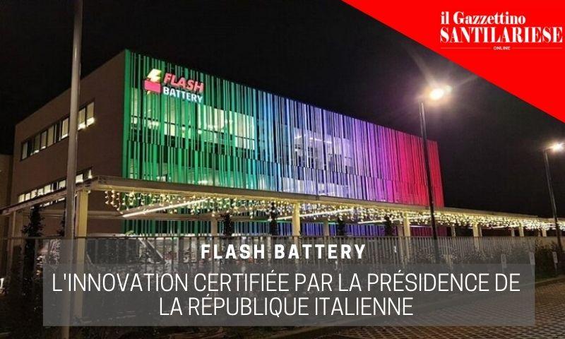 Gazzettino santilariese flash battery innovation certifiée par la présidence de la république italienne