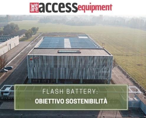 We Are Access Equipment Flash Battery obiettivo sostenibilità