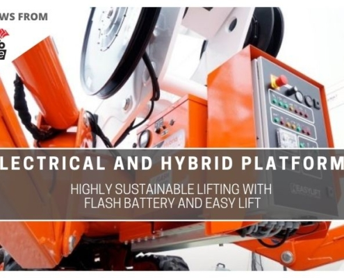 tce electric and hybrid platforms highly sustainable lifting with flash battery and easy lift