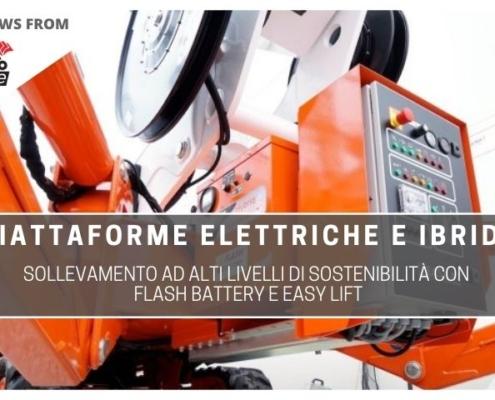 tce sollevamento ad alti livelli di sostenibilità con Flash Battery e Easy LIft