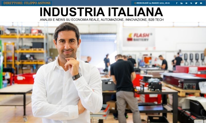 Industria italiana flash battery tendence positive 2020 croissance chiffre affaires emploi