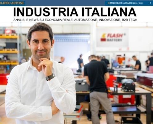 Industria italiana Flash Battery migliore impresa under 40 emilia romagna crescono fatturato occupazione