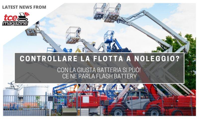 tce controllare flotta a noleggio con la batteria flash battery
