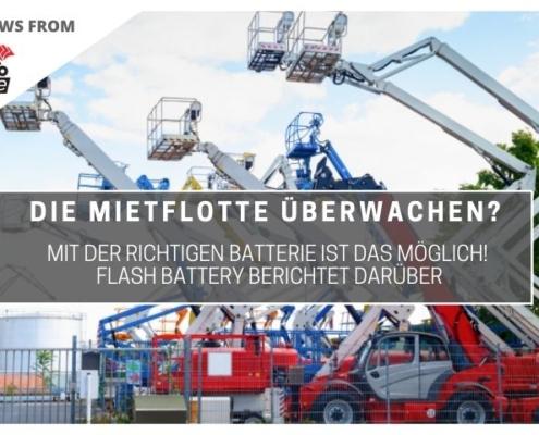 tce mietflotte ueberwachen mit Flash Battery