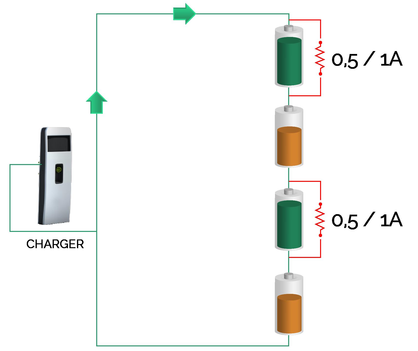 bms bilanciamento batteria litio