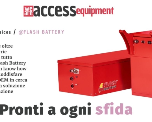 10-2021 we are access equipment flash battery up for the challenge