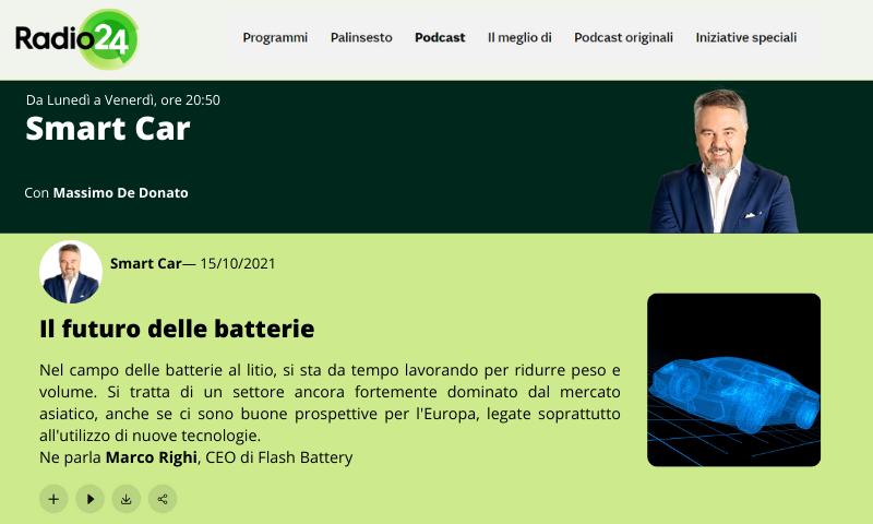 Radio24 interview marco righi smartcar